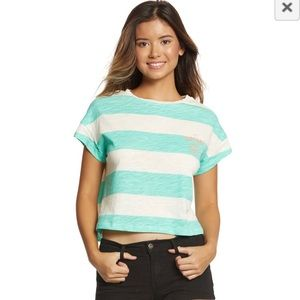 Rip curl frothing box t-shirt green white stripes